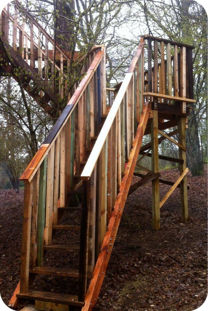 ladder naar boomhut