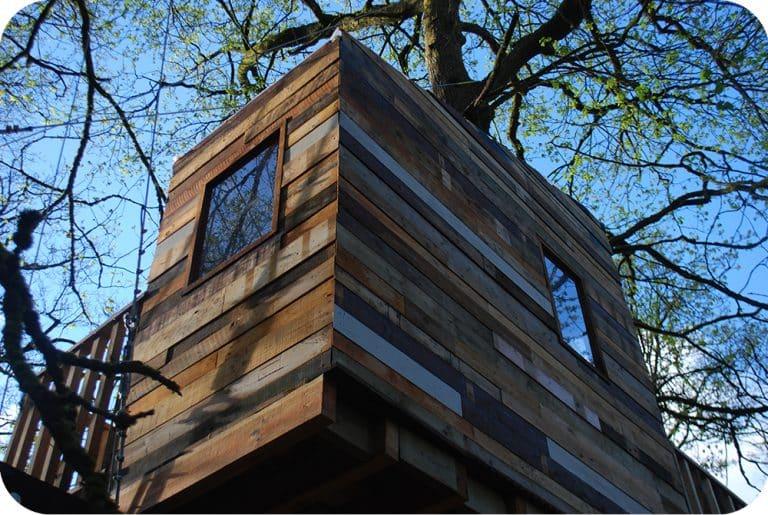 Chevetogne boomhut pallethout
