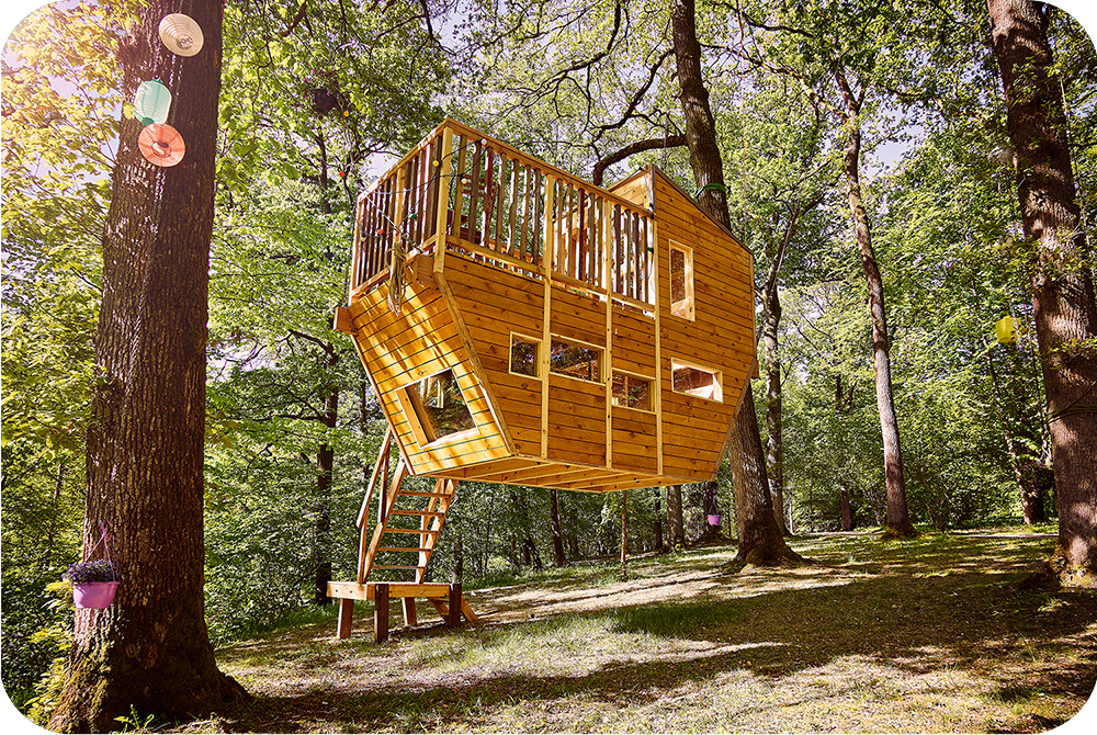 Zwevende boomhut, suspended, treehouse, floating, moderne boomhut,architecturaal