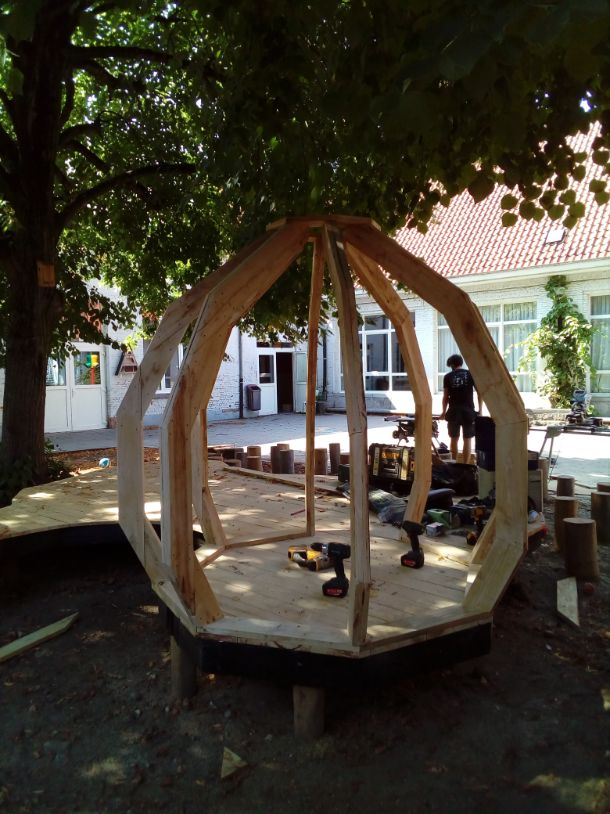 speelplaats inrichten parcour Leuven