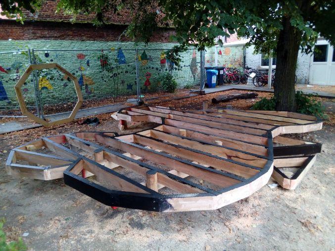 speelplaats verfraaien houten toestellen Leuven