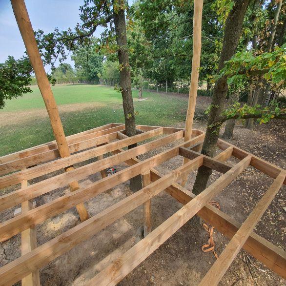 Constructie hout huis